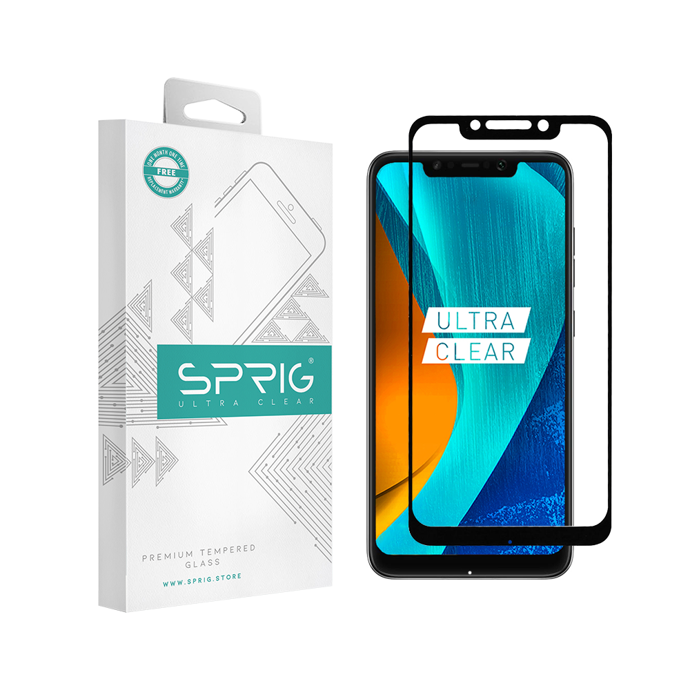 Sprig Full Screen Double Tempered Glass /Screen Protector for Xiaomi Poco F1 - Sprig