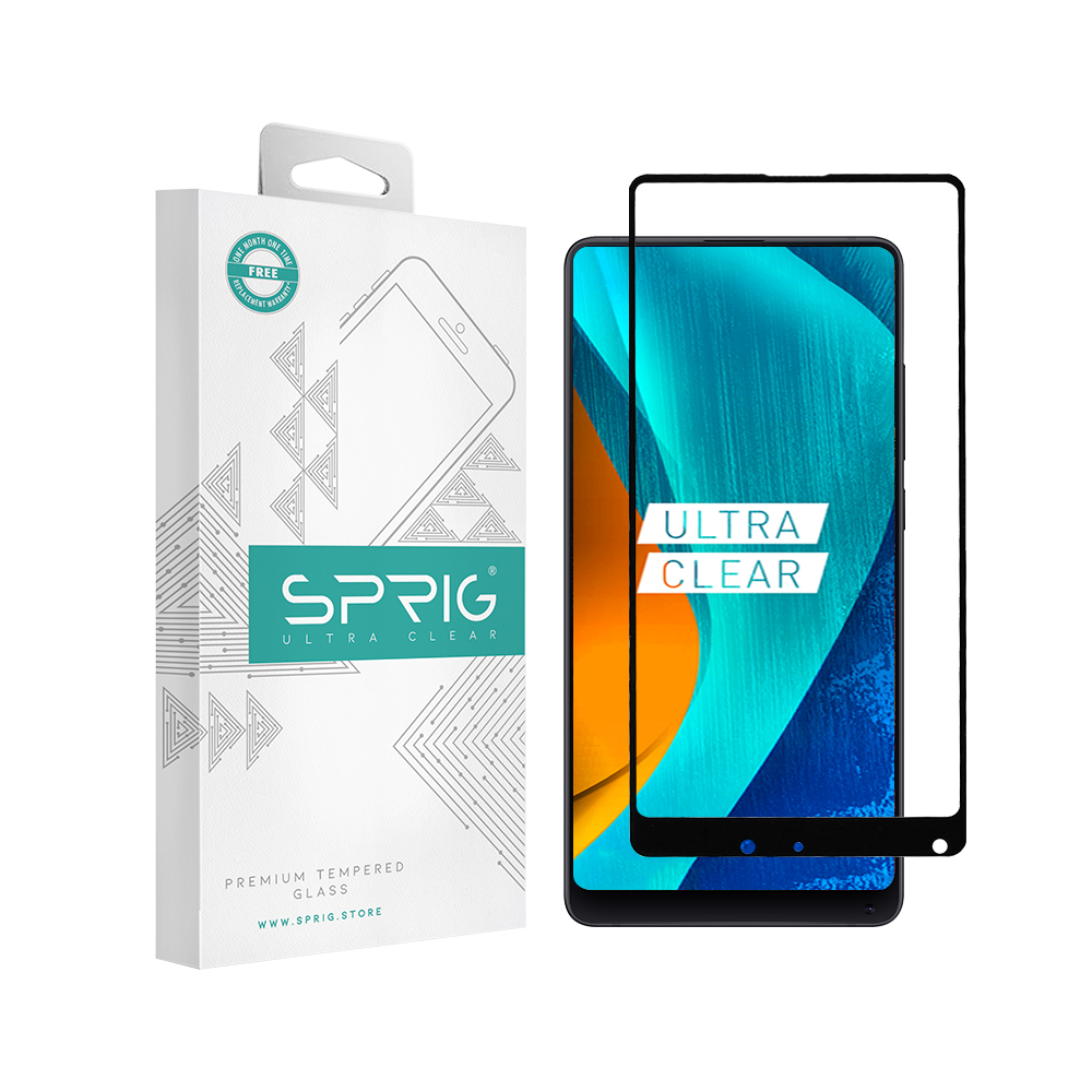 Sprig Full Screen Tempered Glass/Screen Protector for XIAOMI Mi Mix 2 - Sprig