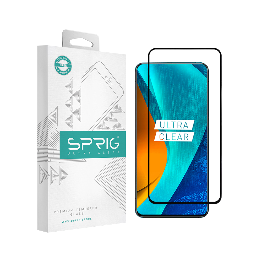 SPRIG Full Cover Tempered Glass Screen Protector for Oppo Reno