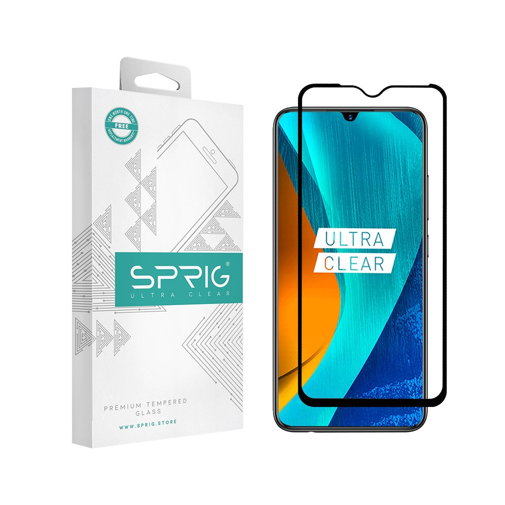 Sprig Full Screen Tempered Glass/Screen Protector for Vivo V11 Pro - Sprig