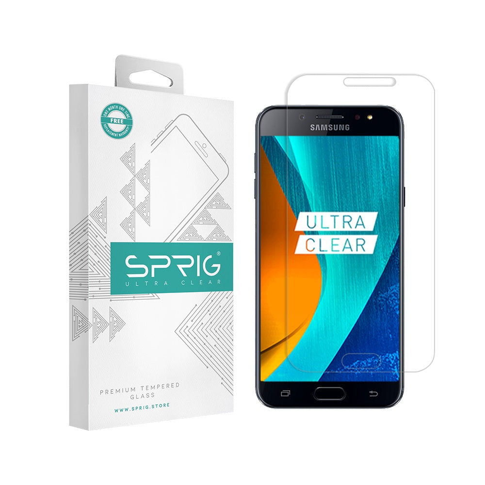 Sprig Transparent Tempered Glass/Screen Guard for Samsung Galaxy J7 Plus - Sprig