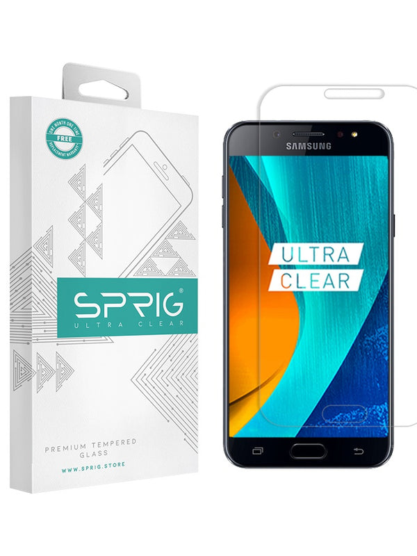 Samsung Galaxy J7 Plus 2.5D Transparent Ultra Clear Tempered Glass - Sprig