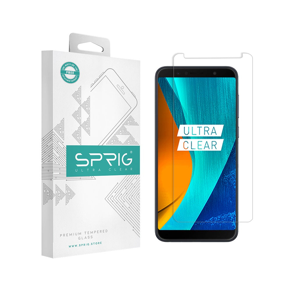 Sprig Transparent Tempered glass/Screen Protector for Asus Zenfone Max Pro M1 - Sprig