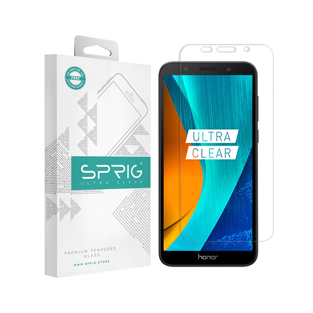 SPRIG Honor 7S Transparent 2.5D Premium Tempered Glass Screen Protector with Installation Kit - Sprig