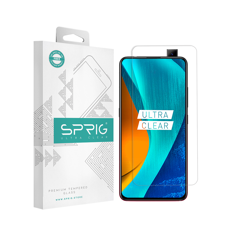 Sprig Transparent Tempered Glass/Screen Protector for Vivo V15 Pro - Sprig