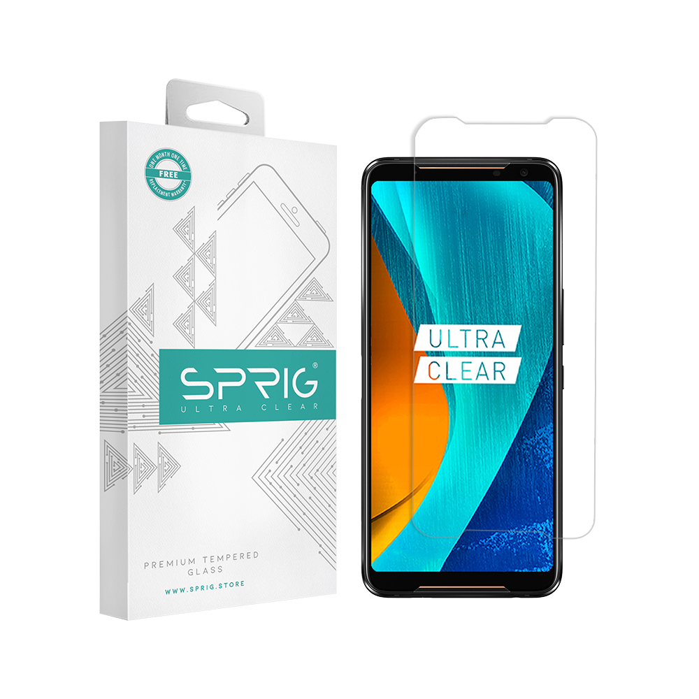 SPRIG Transparent Tempered Glass Screen Protector for Asus ROG 2 - Sprig