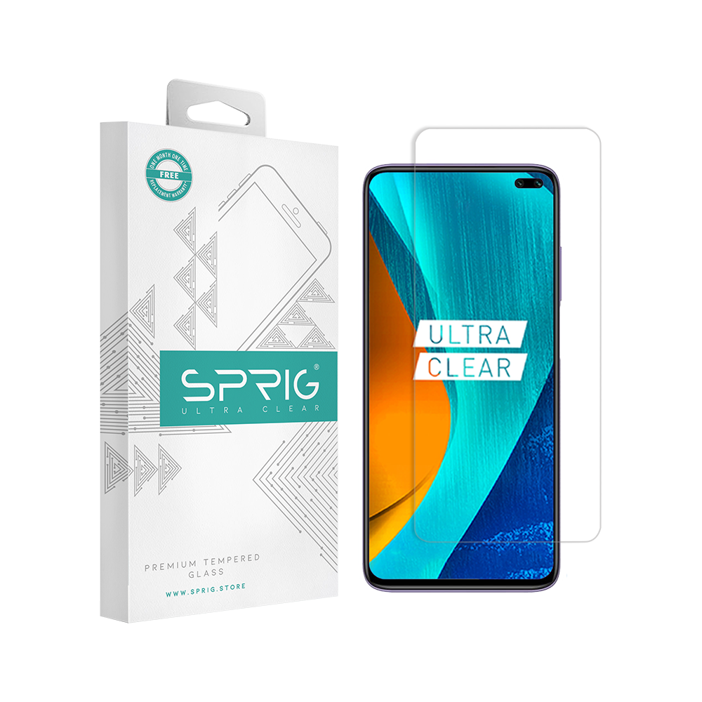 Sprig Transparent Tempered Glass for Vivo V19 with Installation Kit