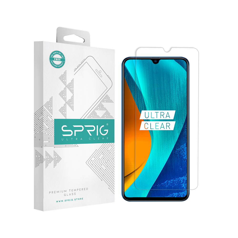 Sprig Transparent Tempered Glass/Screen Protector for Oppo A5 (2020) - Sprig