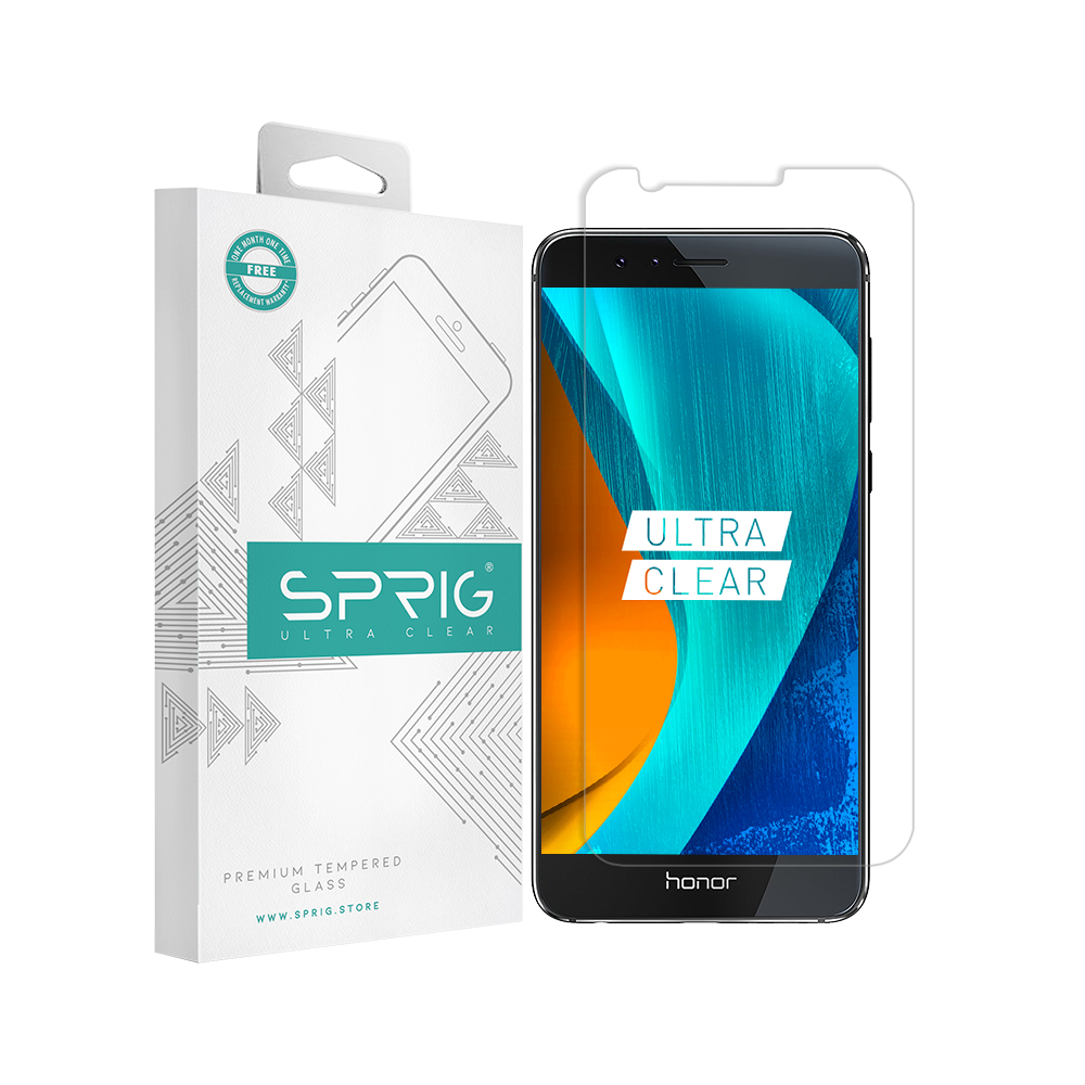 Sprig Transparent Tempered Glass/Screen Protector for Huawei Honor 8 - Sprig