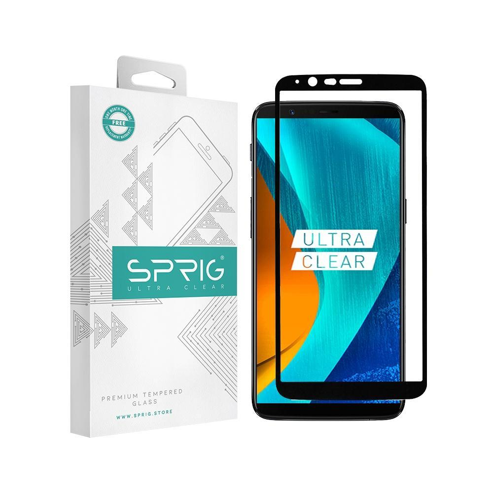 Sprig Full Screen Tempered Glass/ Screen Guard for OnePlus 5T - Sprig
