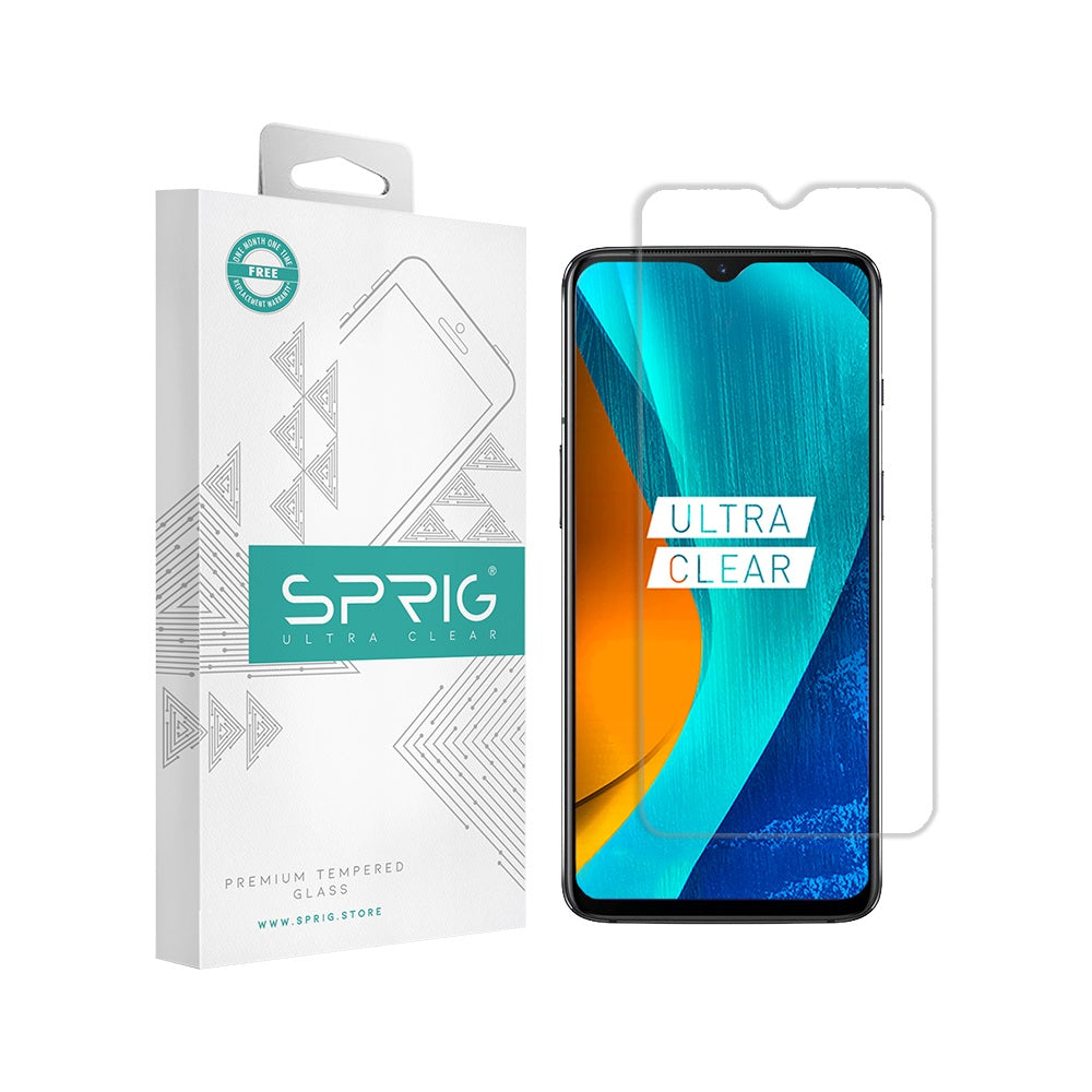 Buy Transparent Oneplus 7 Tempered Glass with Installation kit - Sprig