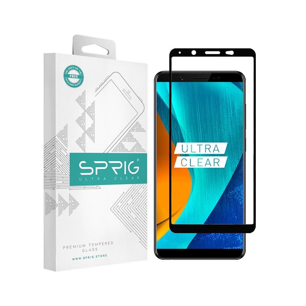 Sprig Tempered Glass Full Screen Screen Protector for Vivo V7 plus - Sprig