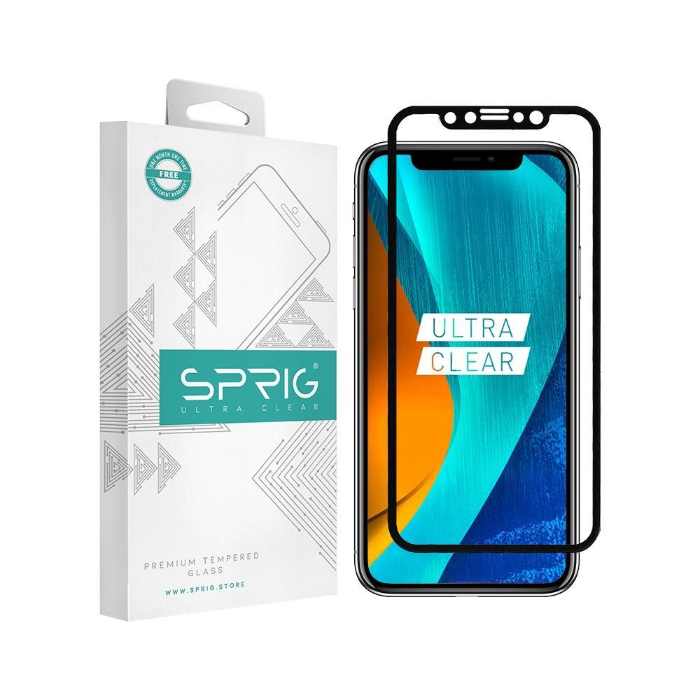 Sprig Full Screen Tempered Glass/Screen Protector  for IPhone X - Sprig