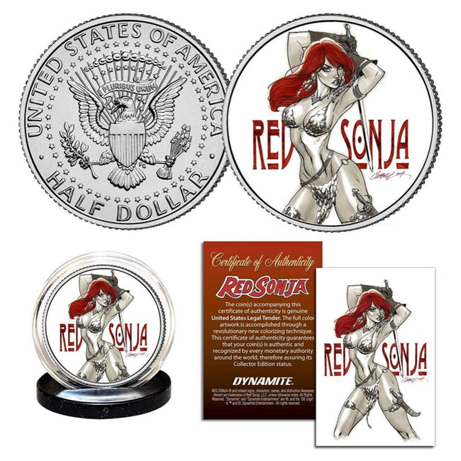 Dynamite Red Sonja J. Scott Campbell Collectible Coin