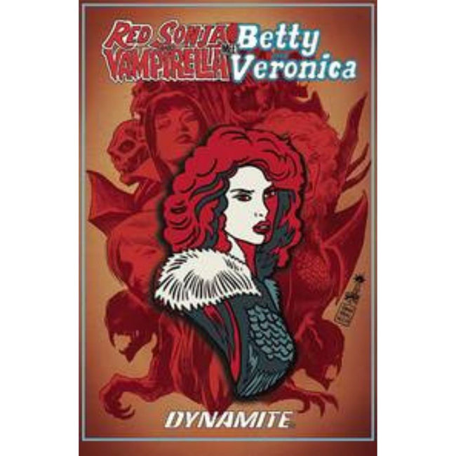 RED SONJA VAMPIRELLA BETTY VERONICA RED SONJA ENAMEL PIN
