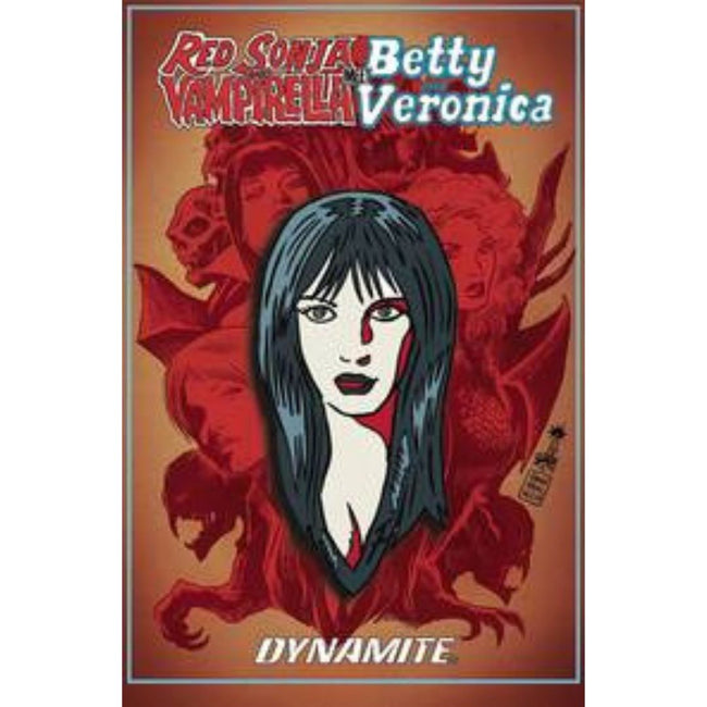 RED SONJA VAMPIRELLA BETTY VERONICA VERONICA ENAMEL PIN