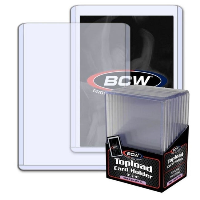 "BCW Topload Card Holder Thick 197 Pt (3"" x 4"")"
