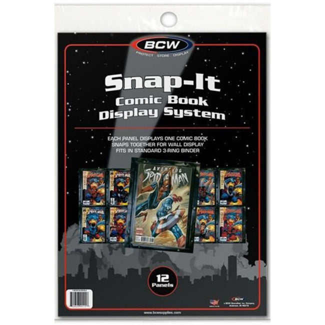 BCW SNAP IT COMIC BOOK DISPLAY SYSTEM - BLACK