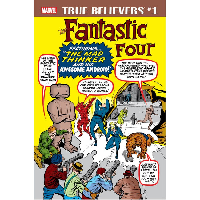 TRUE BELIEVERS FANTASTIC FOUR THE MAD THINKER #1