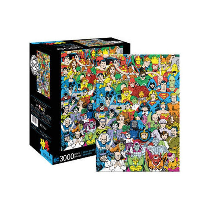 DC COMICS RETRO CAST 3000 PIECE PUZZLE