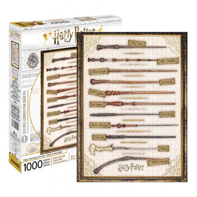 HARRY POTTER WANDS PUZZLE 1000 PIECES