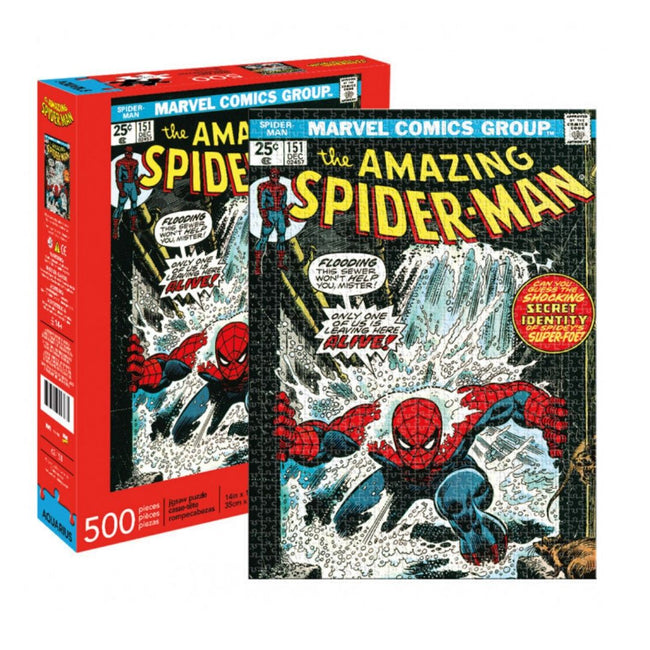 MARVEL SPIDER-MAN COVER 500 PIECE PUZZLE