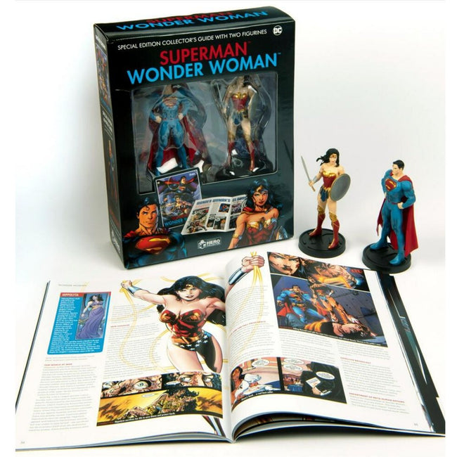 SUPERMAN AND WONDER WOMAN HC W COLLECTIBLES