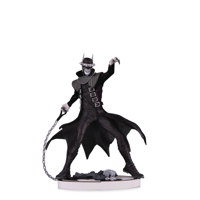 BATMAN WHO LAUGHS BLACK AND WHITE STATUE 2ND EDITION
