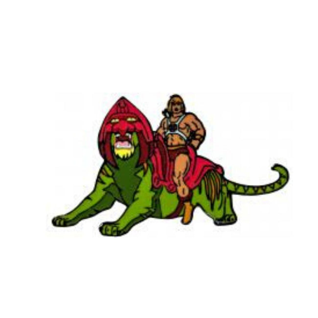 MOTU - HE-MAN ON BATTLE CAT ENAMEL PIN