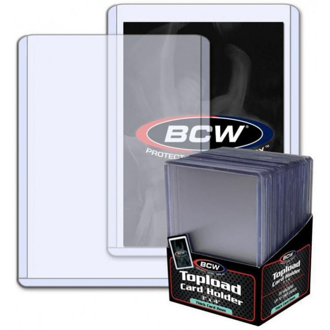 BCW Topload Card Holder Thick Card 79 Pt (25 Holders Per Pack)