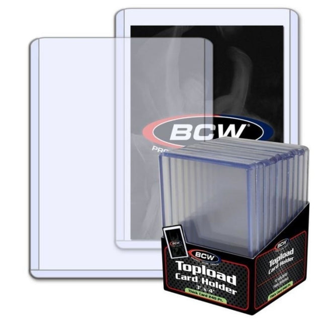 "BCW Topload Card Holder Thick 240 Pt (3"" x 4"")"