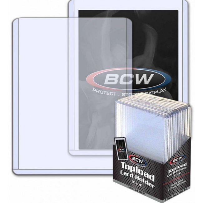 "BCW Topload Card Holder Thick 138 Pt (3"" x 4"")"