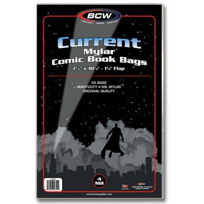 BCW CURRENT 4 MIL MYLAR BAGS