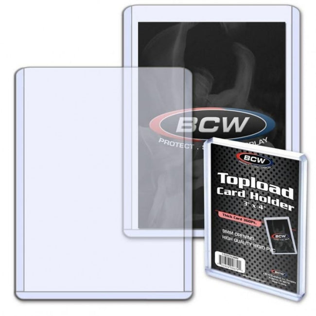 "BCW Topload Card Holder Thick Card 360 Pt (2"" 3/4 x 3"" 7/8 x 23/64)"