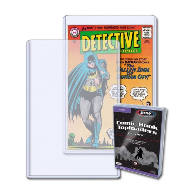 BCW TOPLOAD HOLDER SILVER COMIC BOOK 10 PACK