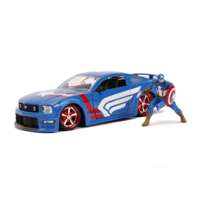 CAPTAIN AMERICA - 2006 FORD MUSTANG GT 1:24 SCALE HOLLYWOOD RIDES DIECAST VEHICLE