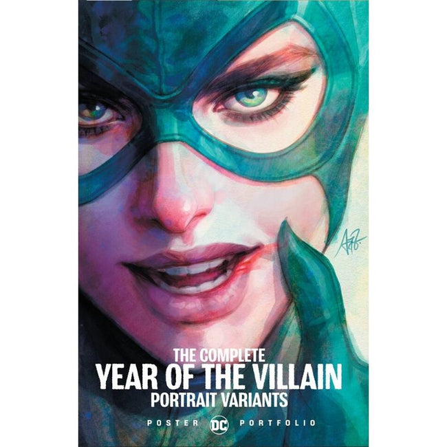 DC POSTER PORTFOLIO COMPLETE YEAR OF VILLAIN POSTER VARIANTS