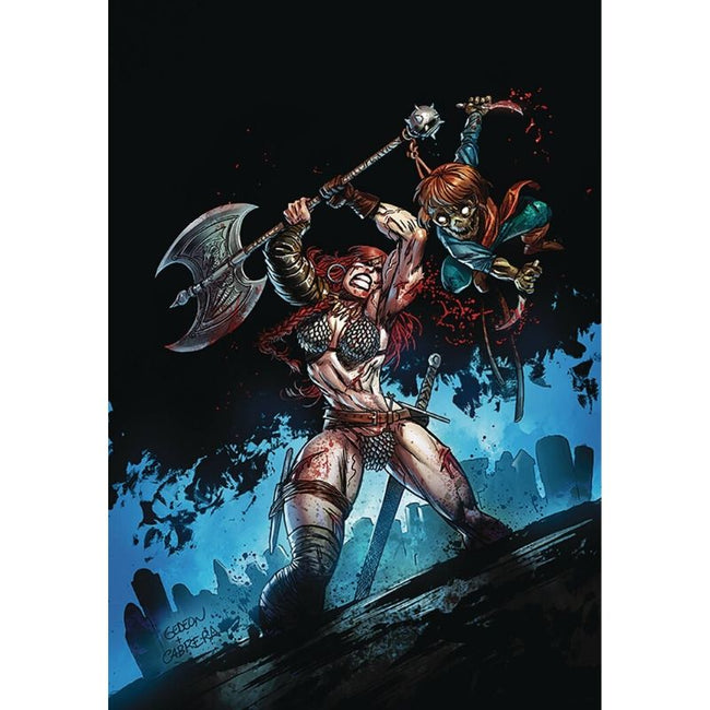 KILLING RED SONJA #1 GIDEON LTD VIRGIN GEDEON ZOMBIE VAR