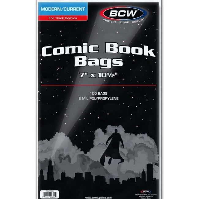 BCW CURRENT COMIC BOOK BAGS ( THICK COMICS)