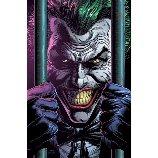 BATMAN THREE JOKERS #2 (OF 3) Premium Variant D (behind bars)
