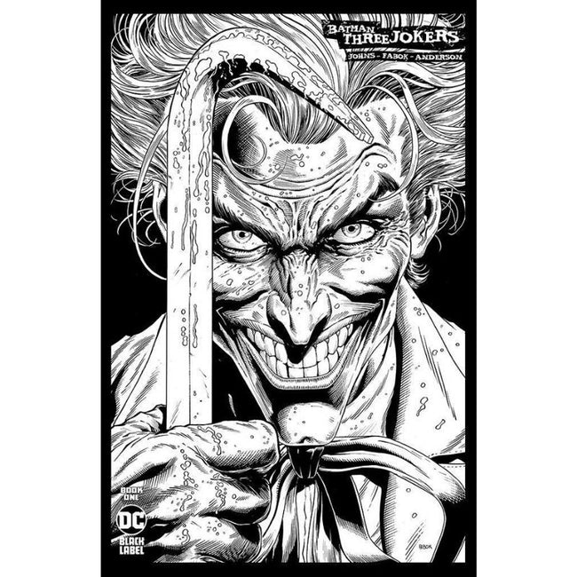 Batman Three Jokers #1 Jason Fabok B&W Sketch 1:100 Variant Cover