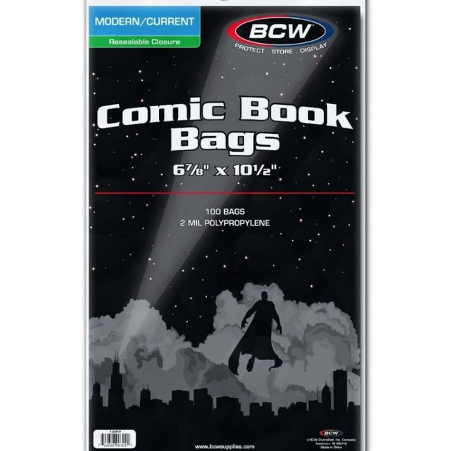 BCW CURRENT COMIC BOOK BAGS RESEALABLE