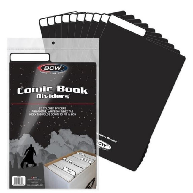 BCW COMIC BOOK DIVIDERS BLACK