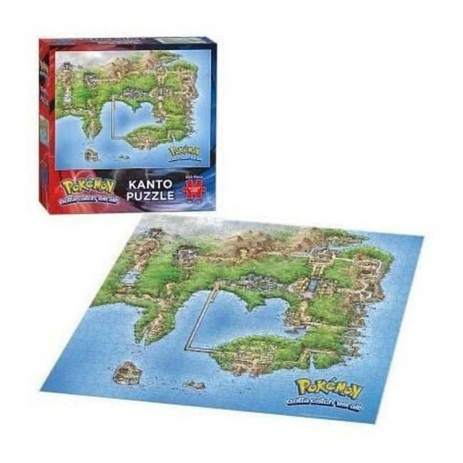 Pokemon Kanto Map 550 Piece Puzzle