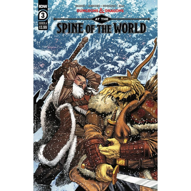 DUNGEONS & DRAGONS AT SPINE OF WORLD #3 (OF 4) CVR A COCCOLO