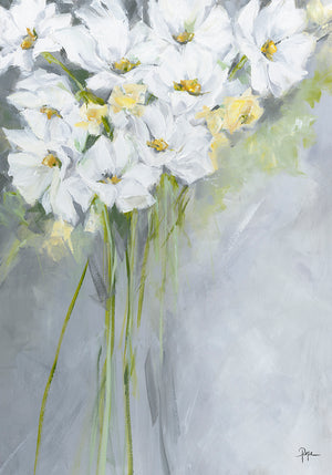 White Poppies Canvas