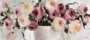 Pastel Roses Canvas