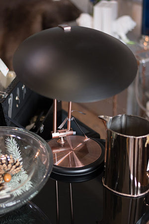 Black & Copper Study Lamp