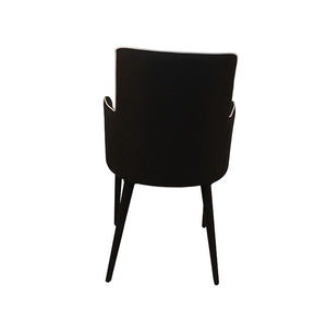 Black Chair with Piping