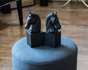 Black Horse Bookends